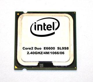 Intel Core2Duo E6600 SL9S8   CPU  2x2.40 GHz 1066 MHz FSB  4MB Sockel 775