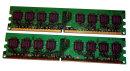 2 GB DDR2-RAM-Kit (2 x1GB) 240-pin PC2-4200U non-ECC...