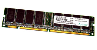 128 MB SD-RAM 168-pin PC-133U non-ECC CL3   Apacer 71.74350.034