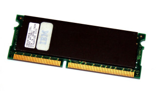 128 MB SO-DIMM PC-66 SD-RAM 144-pin CL2  Hitachi HB52R168DB-10DL FRU: 01K1153