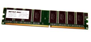 Buffalo Technology DD4003-1G//BJ Select DDR1 DIMM 1GB PC3200 Unbuffered Non ECC