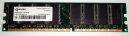 1 GB DDR-RAM 184-pin PC-3200U nonECC  Qimonda...