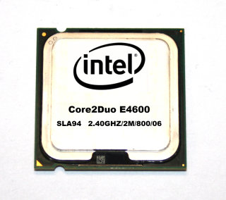 CPU Intel Core2Duo E4600  SLA94  Prozessor 2x2.40 GHz, 800 MHz FSB, 2 MB, Sockel 775