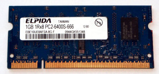 1 GB DDR2 RAM 200-pin SO-DIMM 1Rx8 PC2-6400S  Elpida EBE10UE8AFSA-8G-F