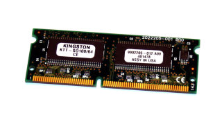 64 MB SO-DIMM 144-pin SD-RAM PC-100   Kingston KTT-SO100/64   9902205