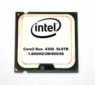 Intel Core2Duo E4300 SL9TB   CPU  2x1,80 GHz   800 MHz FSB  2 MB  Sockel 775