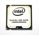 Intel Core2Duo E4300 SL9TB   CPU  2x1,80 GHz   800 MHz...