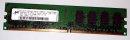2 GB DDR2-RAM 240-pin 2Rx8 PC2-5300U non-ECC Micron MT16HTF25664AY-667E1