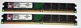 2 GB DDR2-RAM (2 x 1 GB) 240-pin PC2-6400U non-ECC  Kingston KVR800D2N5K2/2G   99..5431