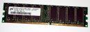 1 GB DDR RAM PC-3200 non-ECC   Micron MT16VDDT12864AY-40BD1