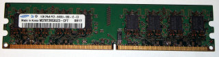 1 GB DDR2-RAM 2Rx8 PC2-6400U non-ECC  Samsung M378T2953GZ3-CF7