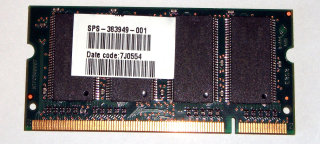 512 MB DDR-RAM 200-pin SO-DIMM PC-2700S  Nanya NT512D64SH8B0GM-6K