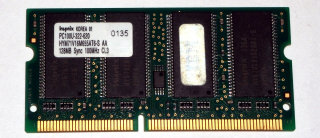 128 MB SO-DIMM 144-pin SD-RAM PC-100  CL3 Hynix HYM71V16M655AT6-S AA