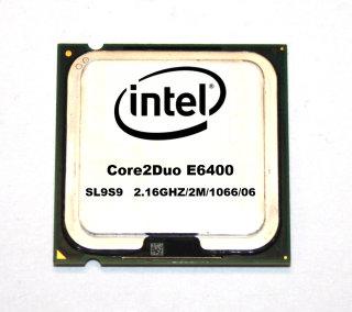 CPU Intel Core2Duo E6400 SL9S9 Prozessor 2x2.13 GHz, 1066 MHz FSB,  2MB Cache, Sockel 775