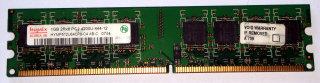 1 GB DDR2-RAM 240-pin 2Rx8 PC2-4200U non-ECC  Hynix HYMP512U64CP8-C4 AB-C