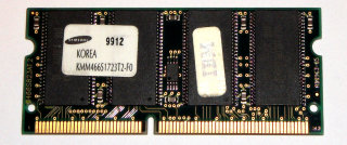128 MB SO-DIMM PC-66 144-pin Laptop-Memory Samsung KMM466S1723T2-F0