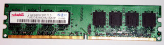 2 GB DDR2-RAM 240-pin PC2-6400U non-ECC  takeMS TMS2GB264D082-805AP