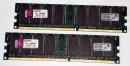 2 GB DDR-RAM (2 x 1 GB) 184-pin PC-3200U nonECC 400MHz Kingston KFJ-E600/2G
