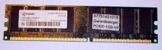 1 GB DDR-RAM 184-pin PC-3200U non-ECC Qimonda HYS64D128320HU-5-B