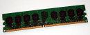 1 GB DDR2-RAM 240-pin 2Rx8 PC2-5300U non-ECC  Qimonda HYS64T128020HU-3S-B