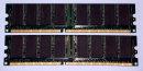 1 GB DDR-RAM (2x512MB) 184-pin PC-3200U non-ECC Kingston KVR400X64C3AK2/1G   99..5216