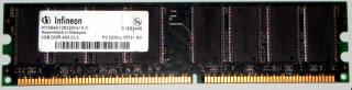 1 GB DDR-RAM 184-pin PC-3200U non-ECC   Infineon HYS64D128320HU-5-C