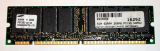 256 MB SD-RAM 168-pin PC-133 non-ECC   Samsung M366S3323CT0-C75