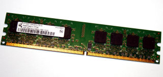 1 GB DDR2-RAM 240-pin 2Rx8 PC2-5300U non-ECC  Qimonda HYS64T128020HU-3S-A