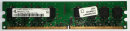 1 GB DDR2-RAM 240-pin 2Rx8 PC2-4200U non-ECC  Qimonda...