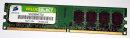 2 GB DDR2-RAM 240-pin PC2-5300U non-ECC  Corsair VS2GB667D2