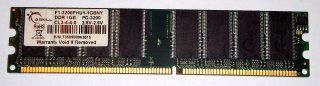 1 GB DDR-RAM 184-pin PC-3200U non-ECC G.SKILL F1-3200PHU1-1GBNY