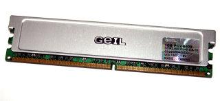 1 GB DDR2-RAM PC2-6400U 240-pin non-ECC Memory CL5  GEIL GX22GB6400DC