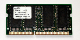 128 MB SO-DIMM PC-133 SD-RAM 144-pin Laptop-Memory  Samsung M464S1724DTS-L7A
