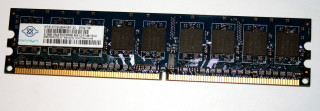 512 MB DDR2-RAM 240-pin 1Rx8 PC2-5300E ECC-Memory  Nanya NT512T72U89A1BY-3C