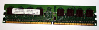 512 MB DDR2-RAM PC2-5300U non-ECC CL4  MDT M512-667-8