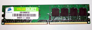 512 MB DDR2-RAM  PC2-5300U non-ECC  240-pin  Corsair VS512MB667D2