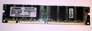 128 MB SD-RAM PC-133U non-ECC Kingston KVR133X64C3Q/128  9905220  single-sided