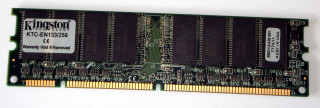 256 MB SD-RAM 168-pin PC-133U non-ECC  Kingston KTC-EN133/256   9902112   double sided