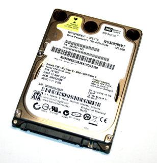 """320 GB SATA II - Harddisk 2,5"""" Notebook-Festplatte Western Digital WD3200BEVT"""