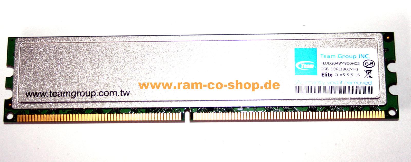 Team Elite 2GB DDR2 800MHz Desktop Memory RAM//CL5//TEDD2048M800HC5