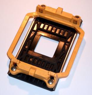 Retention-Modul for AMD-Mainboards with Sockel AM2/AM2+/AM3 (palstic-Backplate/yellow/screwed)