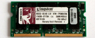 256 MB SO-DIMM PC-100  Kingston KTM-TP390X/256