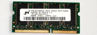 256 MB SO-DIMM PC-133 CL2  Micron MT8LSDT3264HG-13ED2